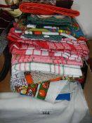 A quantity of tea towels.