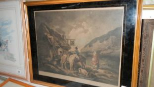 An early framed and glazed engraving by W Ward.