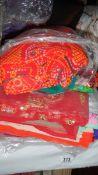 A quantity of sari's.