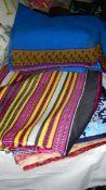 A good lot of sari fabric.