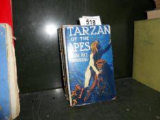 4 vintage hardback Tarzan books with dust jackets a/f