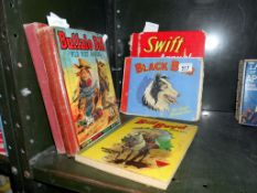A quantity of old annuals including eagle, Buffalo Bill Wild West etc,