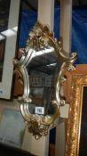 A resin framed mirror.