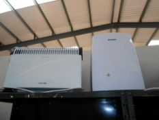 2 convector heaters and a de-humidifier