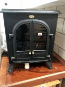 A cast iron Dimplex stove style electric fire