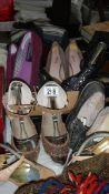 A quantity of ladies shoes.