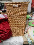 A wicker basket.