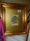 A good gilt framed and glazed rural scene watercolour.