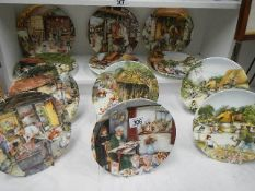 A set of 12 Royal Doulton Country Craft collector's plates.