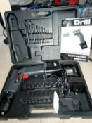 A performance boxed drill with charger.