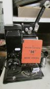 """A vintage Pathescope """"H"""" 9.5 mm home cinema projector."""