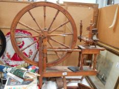 A good old spinning wheel.