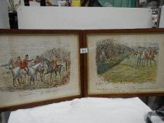 A pair of early 20th century framed and glazed hunting prints.