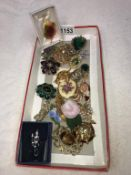 A selection of 20th century brooches etc.