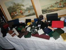 A good mixed lot of jewellery boxes.