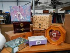 A mixed lot of jewellery boxes.