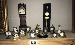 A quantity of miniature ornament Quartz clocks