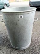 A good galvanised dustbin