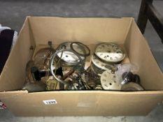 A quantity of clock parts etc.