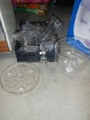 A mixed lot of glassware in good condition.