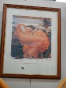 A framed and glazed study of a lady inscribed Frederick Lord Leighton.