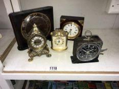 5 vintage clocks including Smiths interval timer