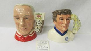 2 Royal Doulton character jugs - Liverpool Centenary 1338/5000 and Football Supporters Leeds United