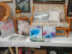 A quantity of good furnishing prints on canvas.