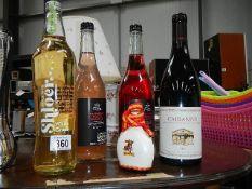 4 bottles of alcohol.
