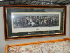 A framed and glazed print entitled 'A Pilgrimage to Canterbury'.