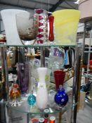 Two shelves of good glassware.