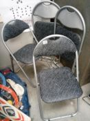 4 folding / stacking chairs