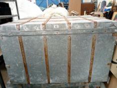 A galvanised work trunk (L - 100cm, W - 80cm,