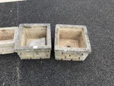 Three garden pots.
