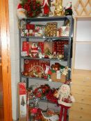 A large quantity of assorted Christmas decorations.