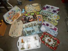 Approximately 15 assorted plastic trays.