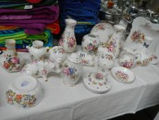 A mixed lot of floral decorated Aynsley/Minton china.