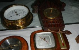 A mixed lot of barometers.