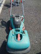 A Bosch Rotak 40GC lawn mower.