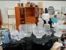 A good lot of cut and moulded glass.