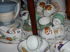 A mixed lot of teaware including Doulton, Colclough etc.
