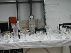 A large lot of cut glass, 6 Babycham glasses etc.