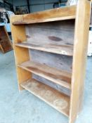 A good solid bookshelf for restoration ****Condition report**** 36 inches in height,