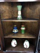 A Longpark Torquay 3 handled vase, dark blue vase,