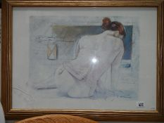 A framed and glazed semi nude study.