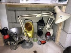 A good lot of lamps/lighting including a switched angle poise lamp