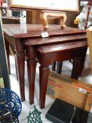 A good nest of 3 mahogany tables.