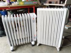 2 working oil radiators with timers