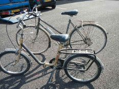 A Hawk folding bicycle and a Falcon Bicycle (need repairs)