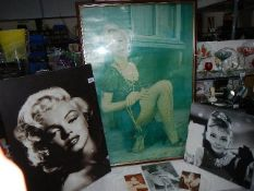 A mixed lot of Marylin Monro and Audrey Hepburn pictures.